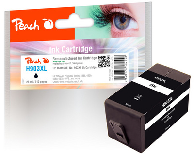 Črnilo Peach HP 903XL T6M15AE, 28ml black 320001
