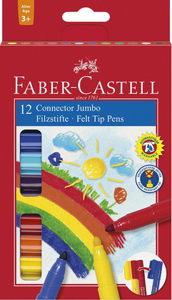 Flomastri Jumbo Connect 12/1 Faber Castell 155212