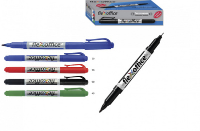 Marker Twin Flexoffice FO-PM01  0,4 -1mm zelen
